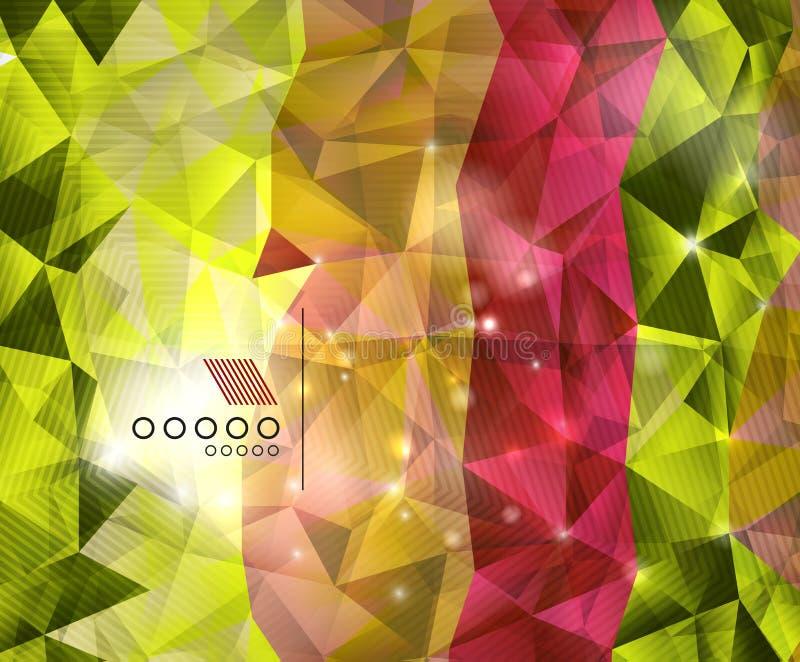 De glanzende achtergrond van de driehoeken geometrische vorm stock illustratie