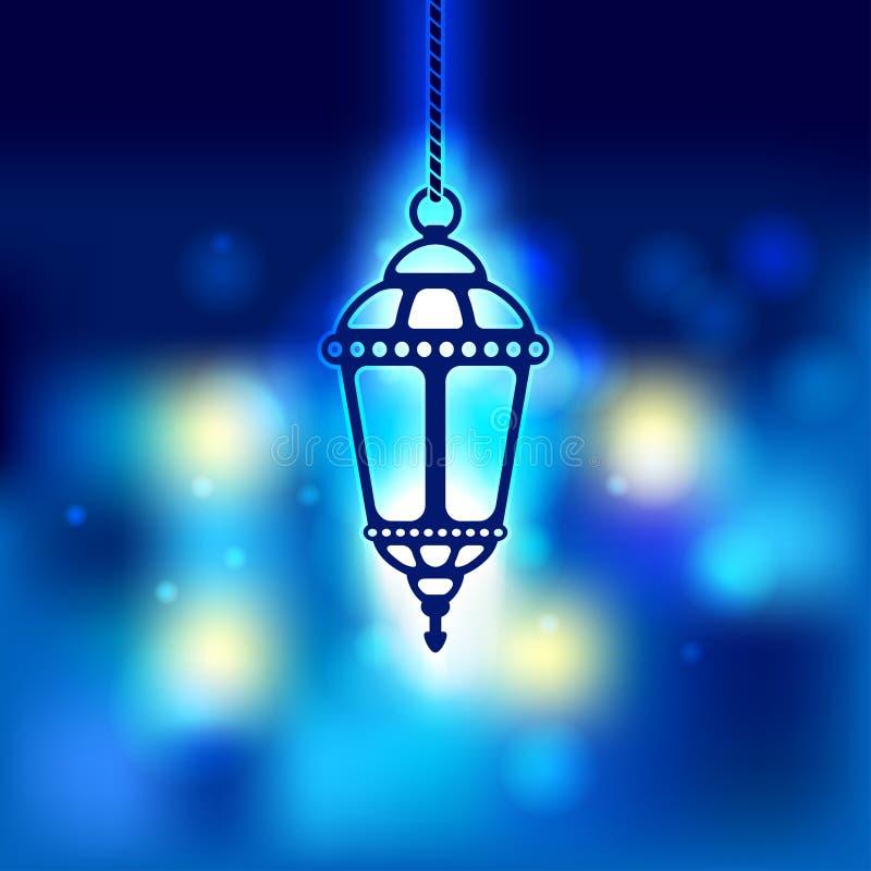 De glanzende achtergrond van de Ramadanlantaarn