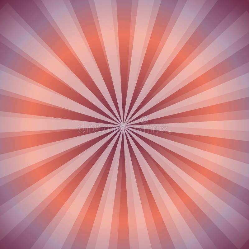 De glanzende achtergrond van de zonstraal Het Patroon van de zonzonnestraal De oranje achtergrond van de stralenzomer zonnestrale royalty-vrije illustratie