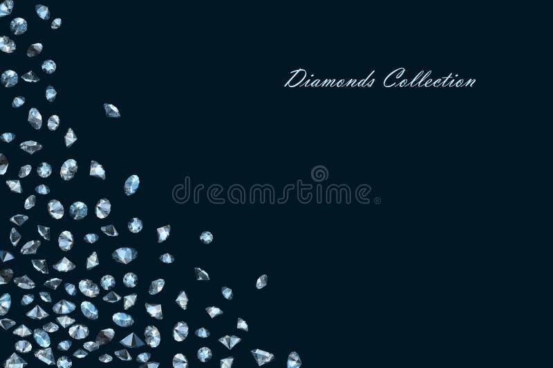 De glanzende achtergrond van Diamanten vector illustratie