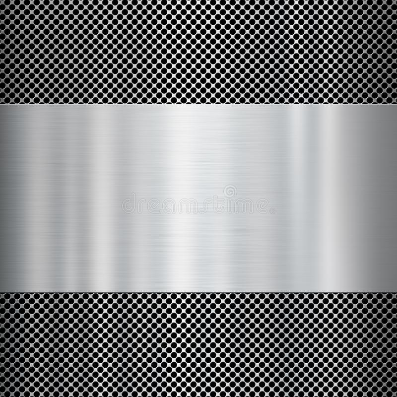 De glanzende achtergrond van de metaaltextuur stock afbeelding