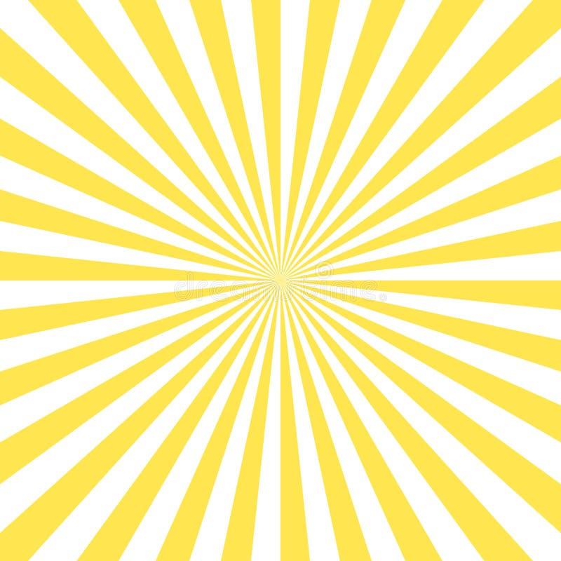 De glanzende achtergrond van de zon vectorstraal vector illustratie