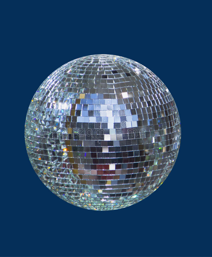 De glanzende bal van de disco, gebied royalty-vrije stock foto