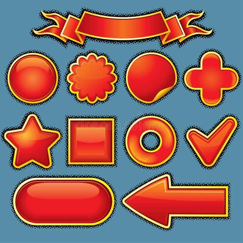 De glanzende Elementen van het Ontwerp vector illustratie