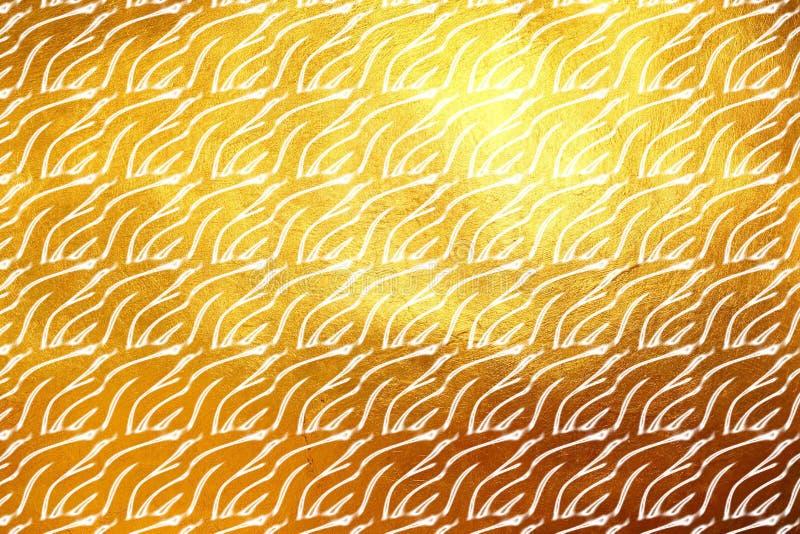 De glanzende moderne digitale gouden achtergrond van het textuurpatroon Creatieve dynamische samenvatting stock illustratie