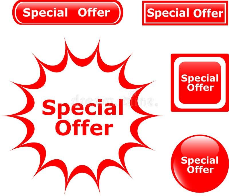 De glanzende pictogrammen van de Speciale aanbieding van de knoop stock illustratie