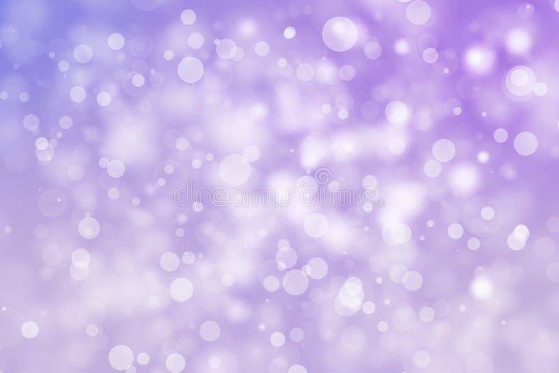 De glanzende purpere achtergrond van het bokehonduidelijke beeld Het gloeien schittert de vakantie van cirkeldeeltjes royalty-vrije illustratie