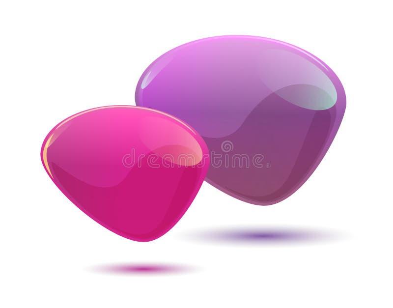 De glanzende Roze en Violette Bellen van de Toespraak stock fotografie