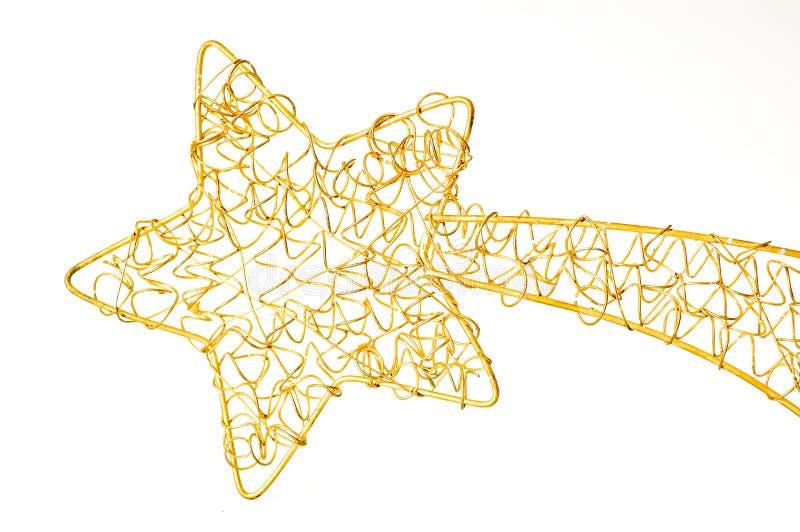 De glanzende ster van Kerstmis stock foto