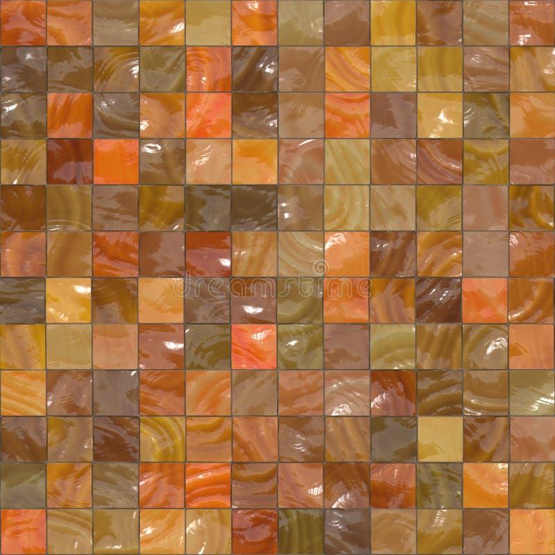 De glanzende tegels van Ornage stock illustratie