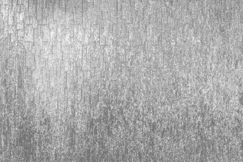 De glanzende Zilveren Textuur en de Achtergrond van de Steenmuur royalty-vrije stock afbeelding