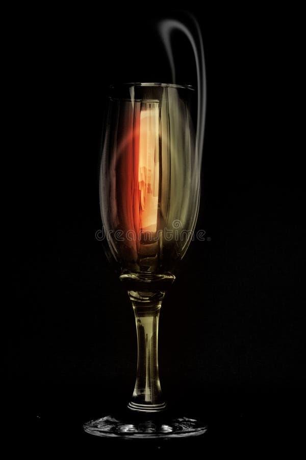 De glas-samenvatting van de wijn royalty-vrije stock afbeelding