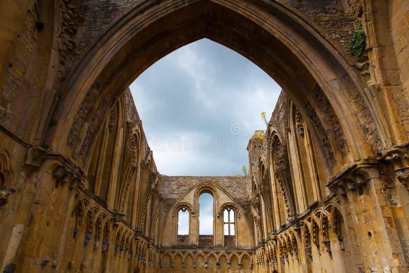 De Glastonburyabdij was een klooster van 7de eeuw in Glastonbur stock foto