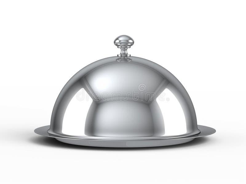 De glazen kap van het restaurant royalty-vrije illustratie