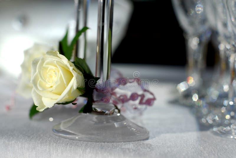 De glazen met romig wit namen toe royalty-vrije stock foto