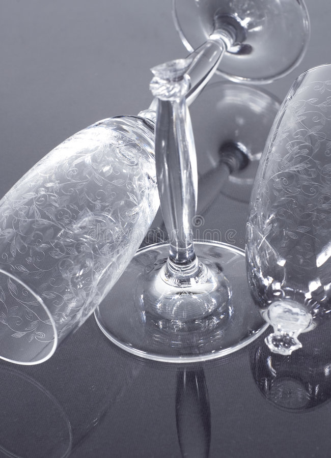 De glazen van Champagne stock fotografie