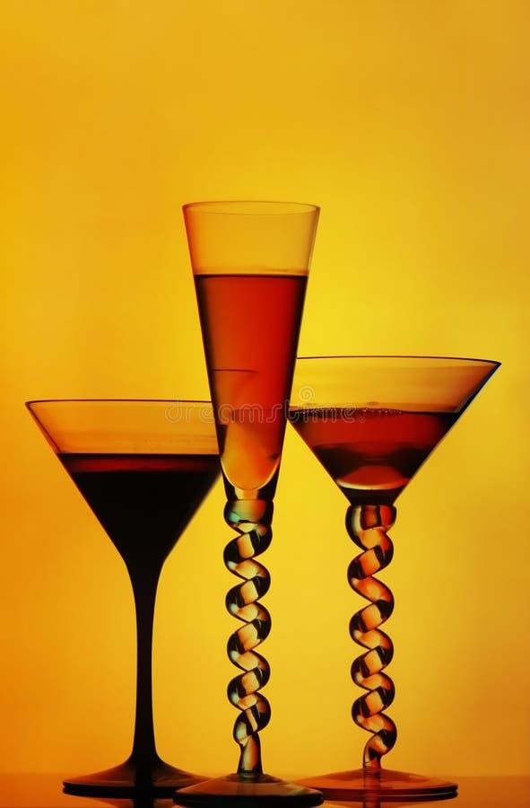 De glazen van de cocktail stock afbeelding