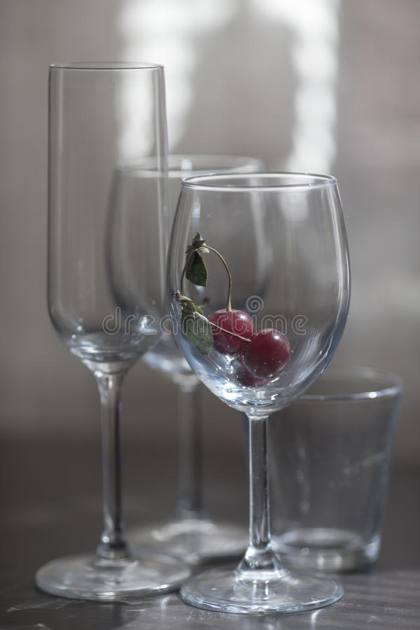 De glazen van de glaswijn royalty-vrije stock afbeelding
