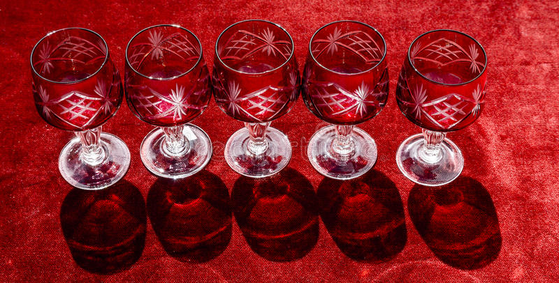 De glazen van de havenwijnstok royalty-vrije stock foto