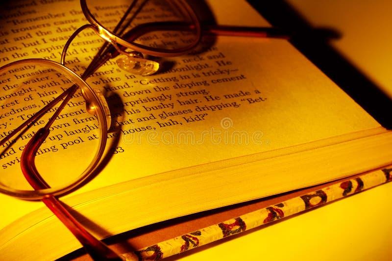 De Glazen van de lezing royalty-vrije stock foto