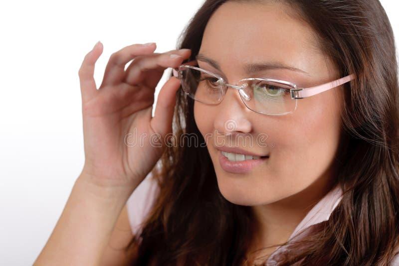 De glazen van de ontwerper - trendy vrouwenmanier stock fotografie