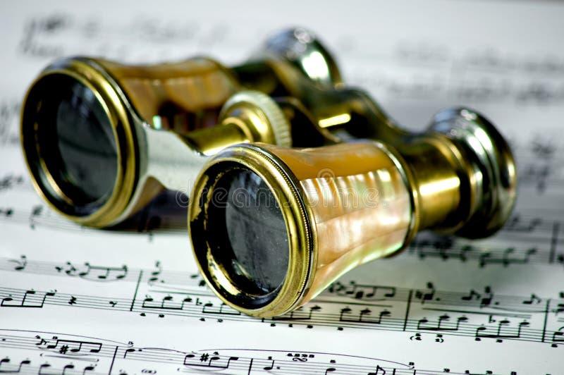 De glazen van de opera stock foto