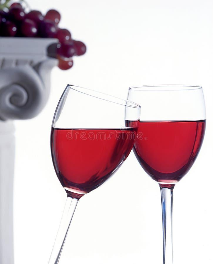 De Glazen van de wijn stock foto