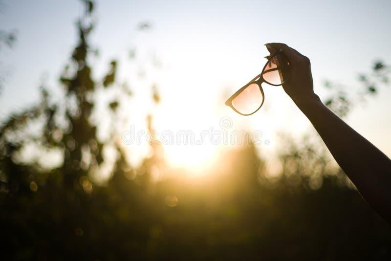 De glazen van de zon stock fotografie