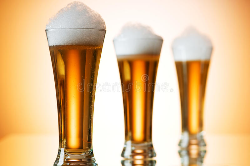 De glazen van het bier royalty-vrije stock foto's