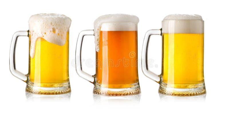 De glazen van het bier royalty-vrije stock fotografie