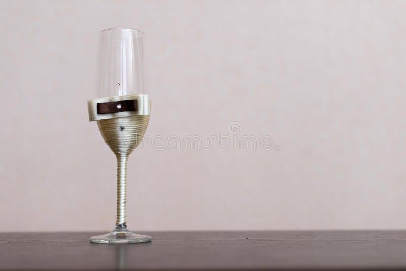 De glazen van het huwelijk stock afbeelding