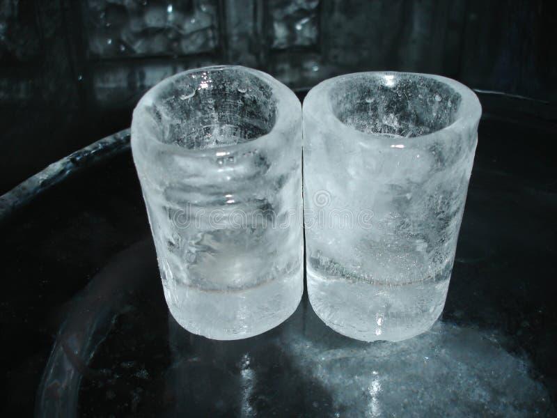 De glazen van het ijs royalty-vrije stock afbeeldingen