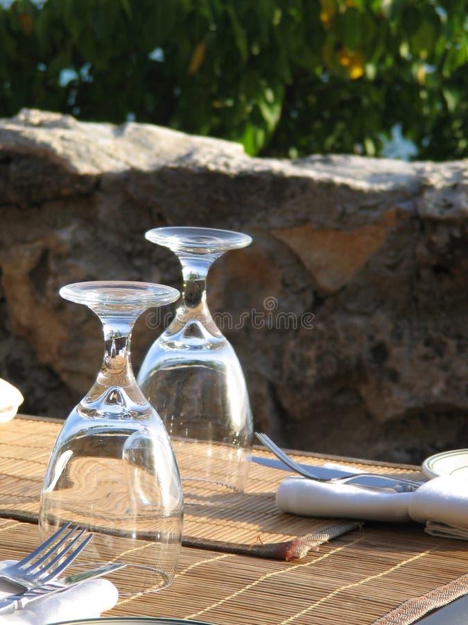 De Glazen van het restaurant royalty-vrije stock foto's