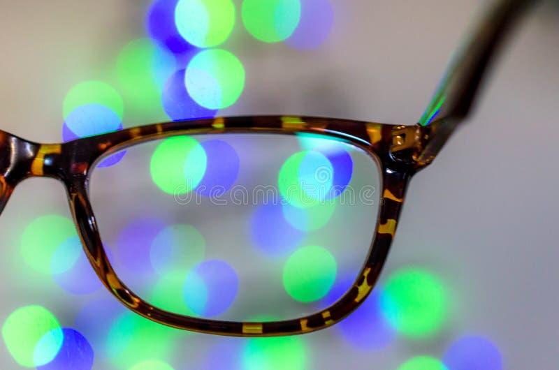 De glazen van het visieconcept stock foto