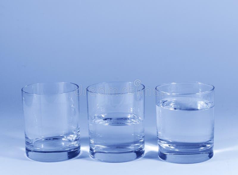 De glazen van het water royalty-vrije stock foto