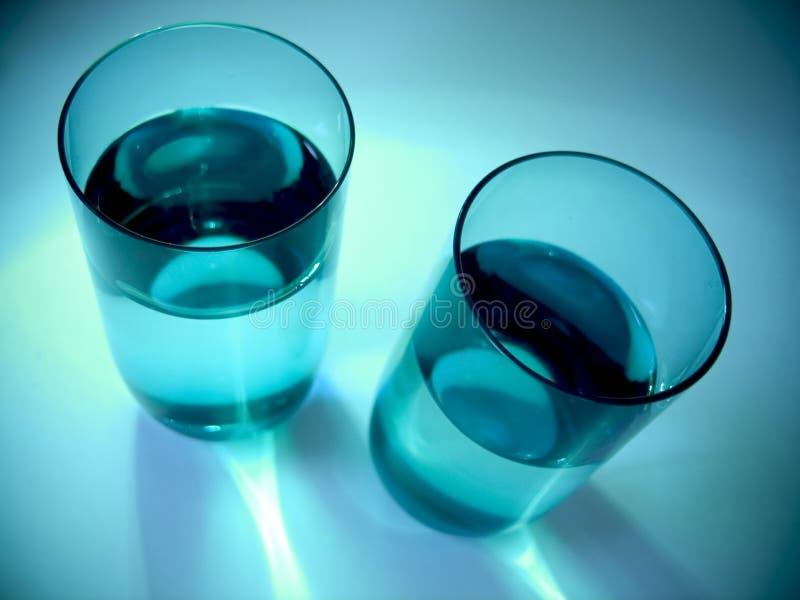 De Glazen van het water stock afbeelding