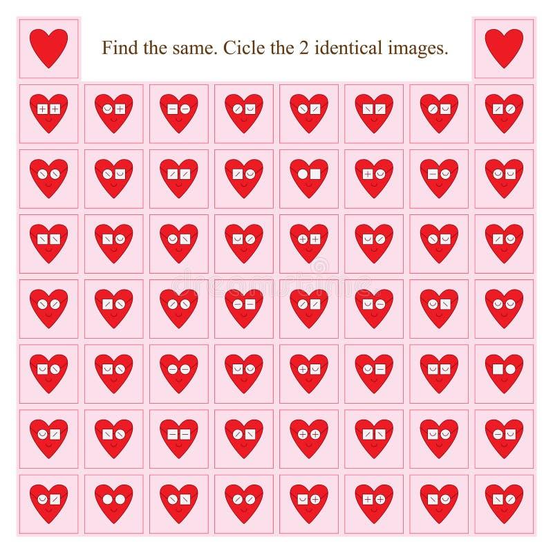 De glazen van de liefdeslijtage vinden hetzelfde stock illustratie
