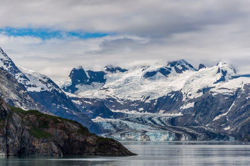 De Gletsjer en de bergen van Johnshopkins royalty-vrije stock afbeeldingen