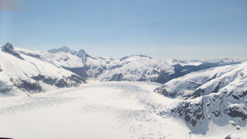 De Gletsjer Juneau Alaska van Mendenhall stock afbeelding