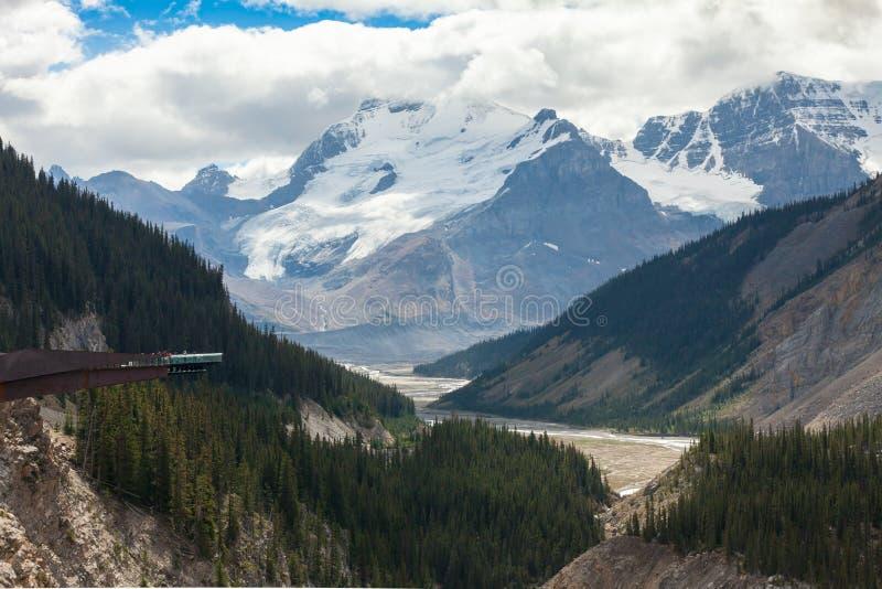 De gletsjer skywalk mening van Colombia icefield royalty-vrije stock afbeelding