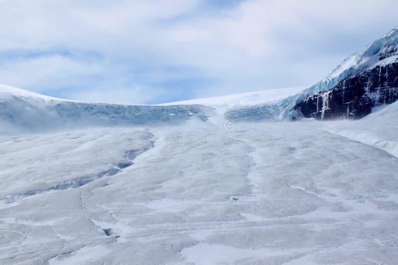 De Gletsjer van Athabasca - het Nationale Park van de Jaspis stock afbeelding