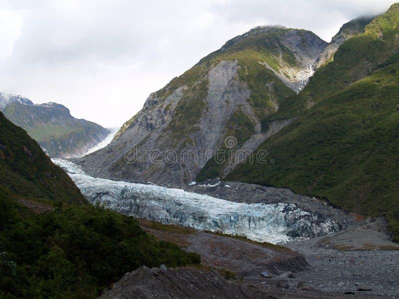 De Gletsjer van de vos, Nieuw Zeeland stock foto's