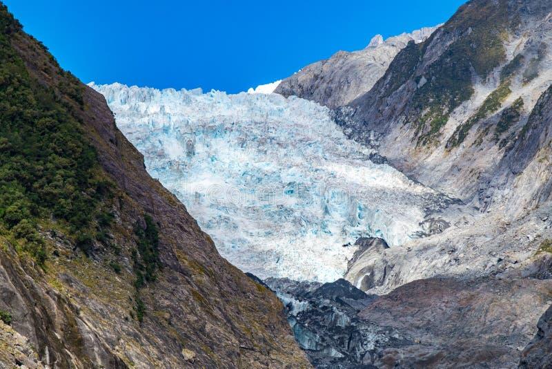 De gletsjer van Franz Josef, Nieuw Zeeland stock afbeelding