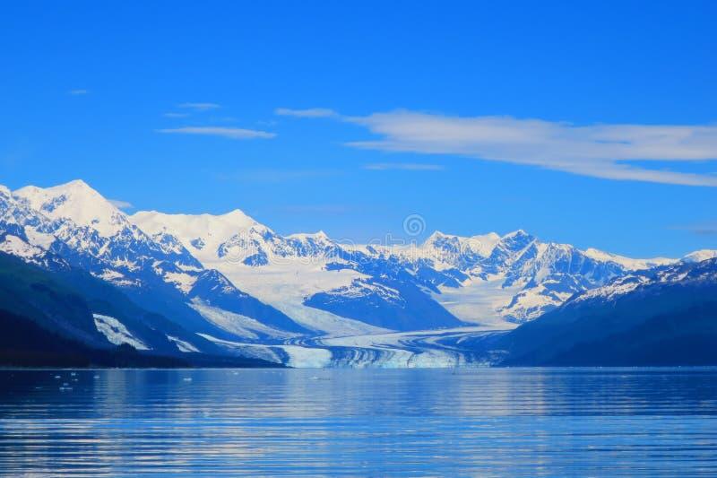 De Gletsjer van Harvard in Prins William Sound, Alaska stock foto