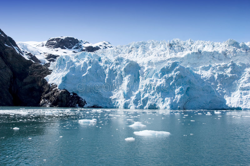De Gletsjer van Hubbard stock foto's