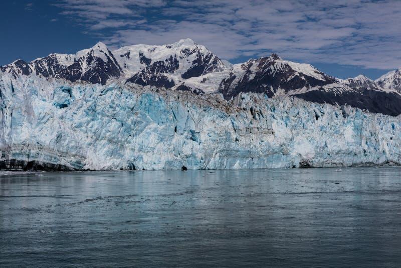 De Gletsjer van Hubbard in Alaska stock afbeelding