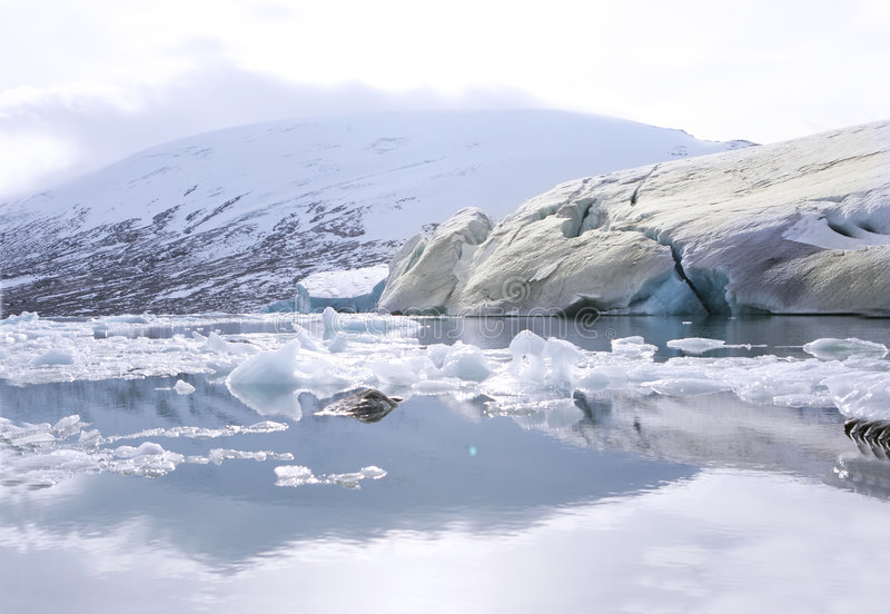 De gletsjer van Jostedalsbreen stock afbeelding