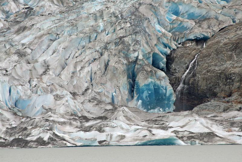 De gletsjer van Mendenhall, Alaska stock afbeeldingen