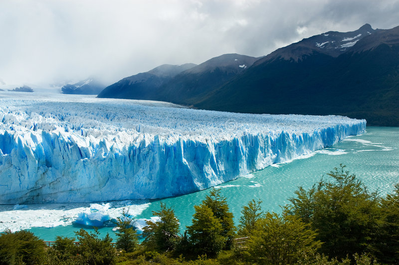 De gletsjer van Moreno van Perito, Patagonië, Argentinië. stock afbeelding