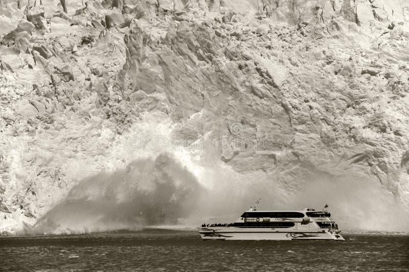 De gletsjer van Perito Moreno het instorten royalty-vrije stock foto's